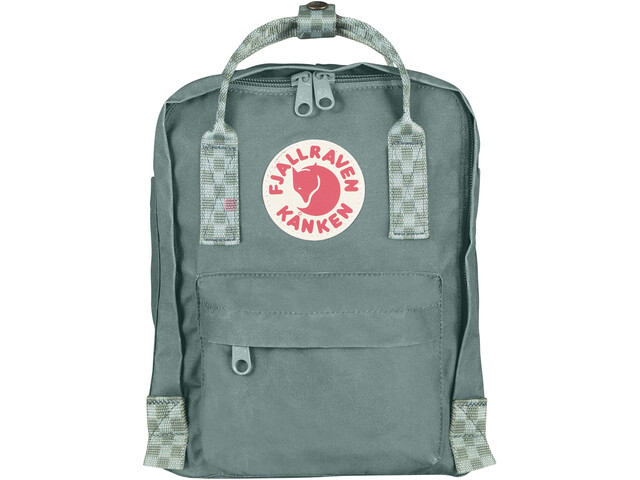 Fjällräven Kånken Mini Backpack frost green/chess pattern